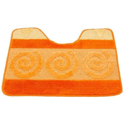 Коврик для туалета Hurrem 50х60 см полипропилен цвет оранжевый