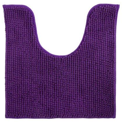 Коврик для туалета Merci 45х45 полиэстер цвет фиолетовый