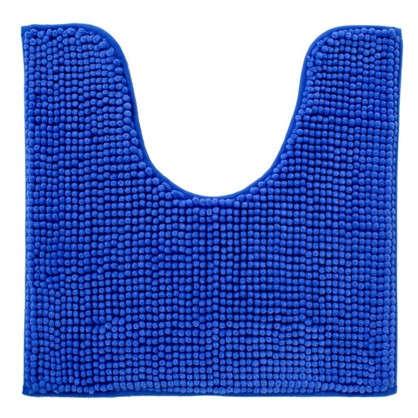 Коврик для туалета Merci 45х45 полиэстер цвет синий