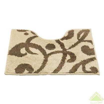 Коврик для туалета Mr Penguin Узоры 40х50 см микрофибра цвет коричневый