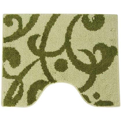 Коврик для туалета Mr Penguin Узоры 40х50 см микрофибра цвет зелёный