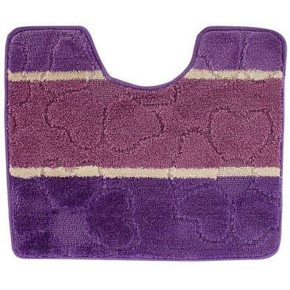 Коврик для туалета Multi 50х60 см цвет фиолетовый