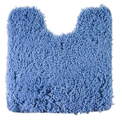 Коврик для туалета Shaggy 55х55 см цвет синий