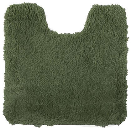 Коврик для туалета Shaggy 55х55 см цвет зелёный