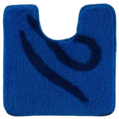 Коврик для туалета Узоры 50х50 см цвет синий