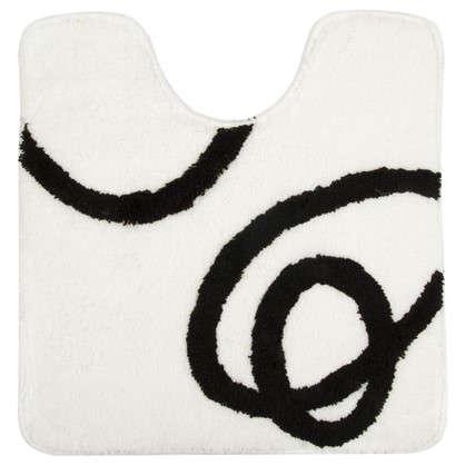 Коврик для туалета Welle Black and White 50х55 см акрил цвет белый