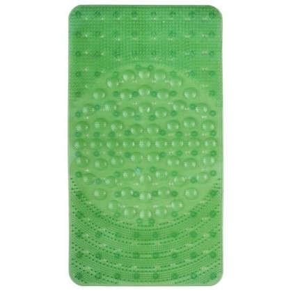 Коврик для ванны антискользящий Лужайка 38х68 см цвет в ассортименте