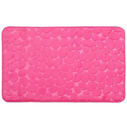 Коврик для ванной Grampus 80х50 см цвет розовый