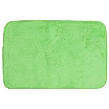 Коврик для ванной 48х75 цвет зелёный