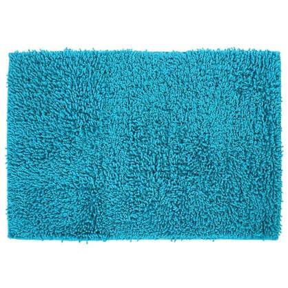 Коврик для ванной Crazy 50x70 см цвет голубой