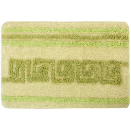 Коврик для ванной Орнамент 50х80 см цвет зелёный