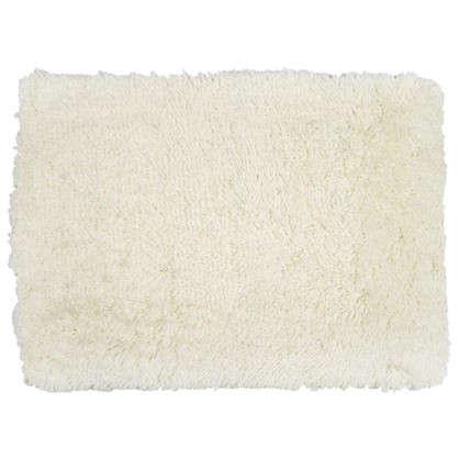 Коврик для ванной Shaggy 70х100 см цвет белый