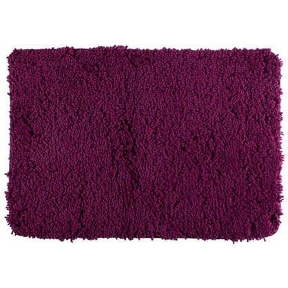 Коврик для ванной Shaggy 70х100 см цвет бордовый