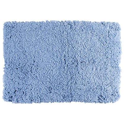 Коврик для ванной Shaggy 70х100 см цвет синий