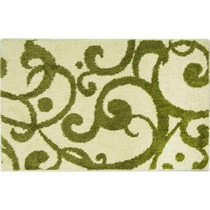 Коврик для ванной Узоры 50х80 см цвет зелёный
