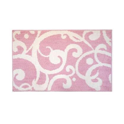 Коврик для ванной Узоры 50х80 см микрофибра цвет розовый