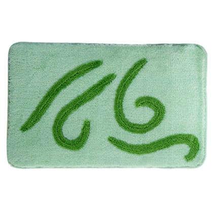 Коврик для ванной Волна 50х80 см цвет зелёный