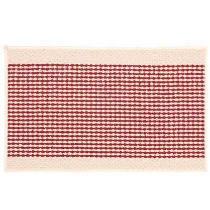 Коврик Париж 50х80 см нейлон цвет бордовый