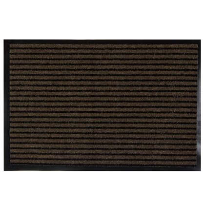 Коврик придверный Grattant полипропилен/ПВХ 60x90 см цвет коричневый