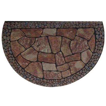 Коврик придверный Stones полукруг резина 58х90 см