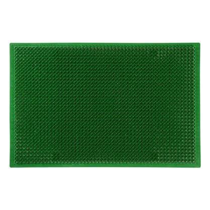Коврик придверный Травка ПВХ 38х58 см цвет зелёный