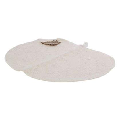 Коврик-сиденье для бани цвет белый