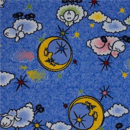 Ковролин Овечки 203 полиамид 3 м цвет голубой
