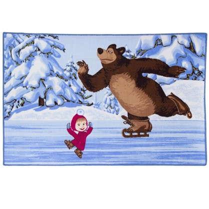 Коврик Маша и Медведь на льду трио размер 1х15 м