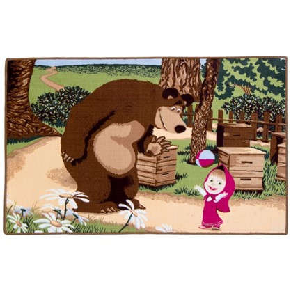 Коврик Маша и Медведь с мячом размер 1х15 м