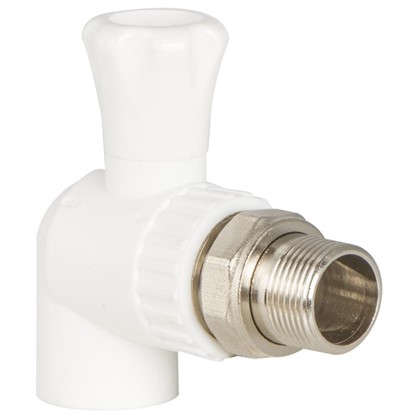 Кран для радиатора угловой 25х3/4 наружная резьба полипропилен