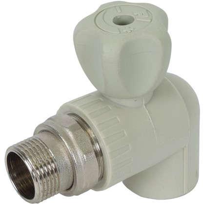 Кран шаровый FV-Plast для радиатора угловой 25х3/4 наружная резьба полипропилен
