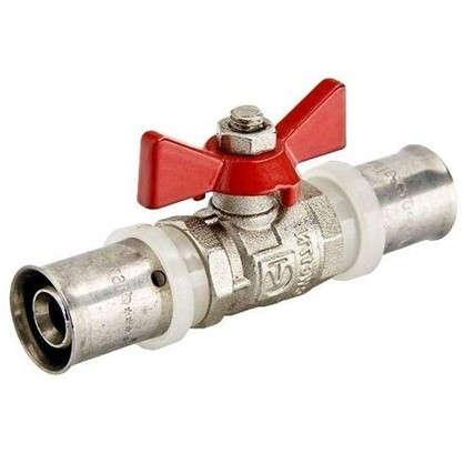 Кран шаровый Valtec для металлопластиковой трубы d 16 мм под пресс латунь