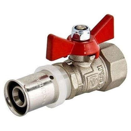 Кран шаровый Valtec для металлопластиковой трубы под пресс d16х1/2 дюймаВР латунь