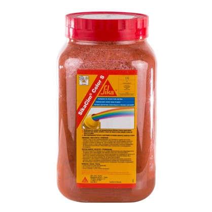 Краситель для бетона и смесей Sika SikaCim Color 0.8 кг цвет красный