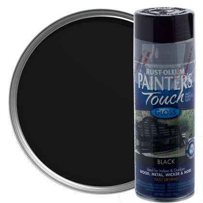 Краска аэрозольная Paint Touch глянцевая цвет черный 340 г