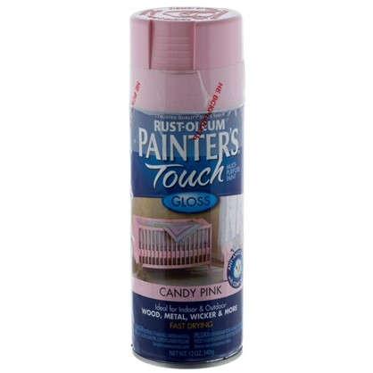 Краска аэрозольная Paint Touch глянцевая цвет розовый 340 г