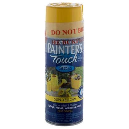 Краска аэрозольная Paint Touch глянцевая цвет желтый 340 г