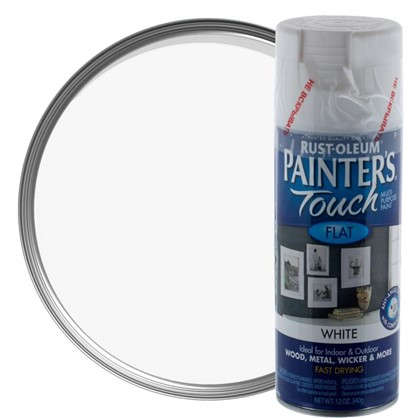 Краска аэрозольная Paint Touch матовая цвет белый 340 г