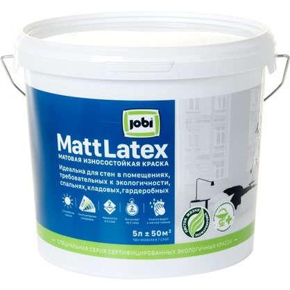 Краска для стен и потолков Jobi Mattlatex база А 5 л в