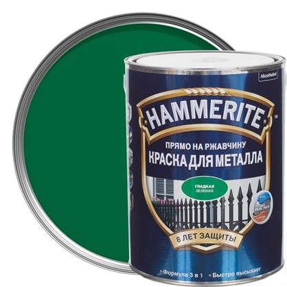 Краска гладкая Hammerite цвет зеленый 5 л