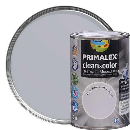 Краска PR-X Clean&Color 1 л Геометрический серый в