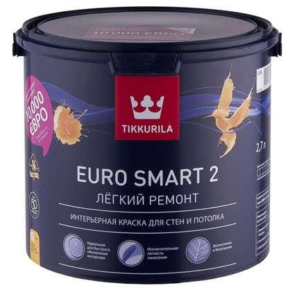 Краска Tikkurila Euro Smart-2 цвет белый 2.7 л в