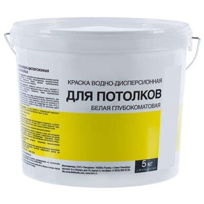 Краска водно-дисперсионная цвет белый 5 кг