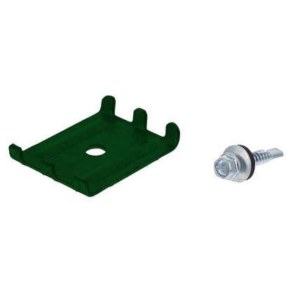 Крепление (скоба и саморез) зеленый RAL 6005