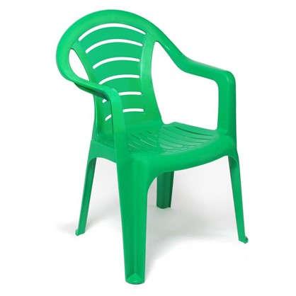 Кресло садовое зелёное 567x825x578 мм пластик