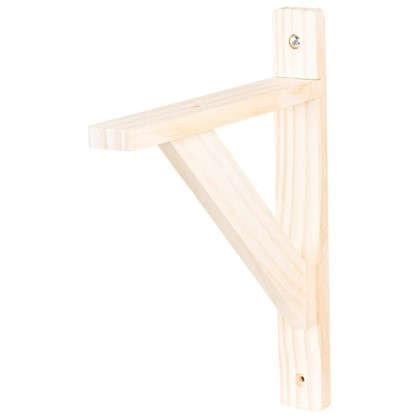 Кронштейн деревянный №15 20х25 см нагрузка до 30 кг бук