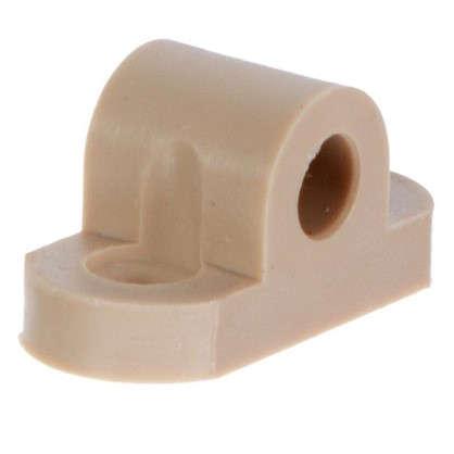 Кронштейн мебельный крепеж пластик цвет бежевый 8 шт.
