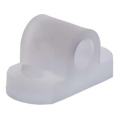 Кронштейн мебельный крепеж пластик цвет прозрачный 8 шт.