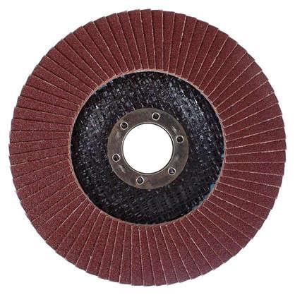Круг лепестковый угловой Р120 125х22 мм