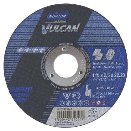 Круг отрезной по металлу Norton тип 41 115x2.5x22.2 мм